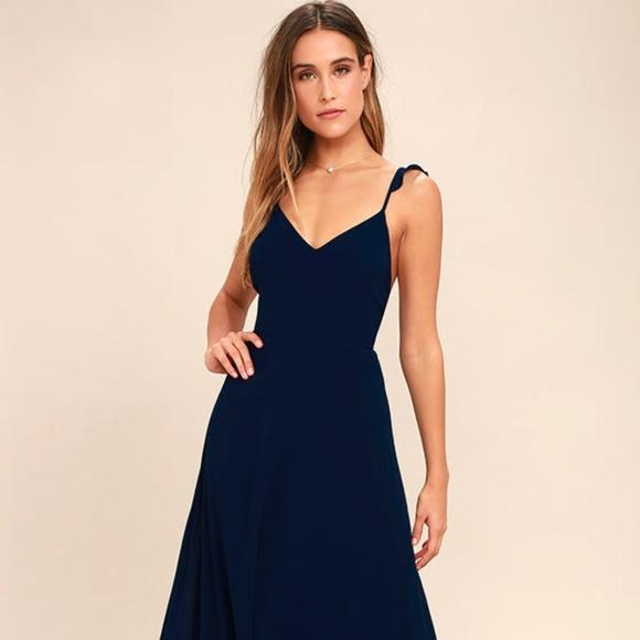 0e98484e46fc1 Lulu's Dresses | Lulus Meteoric Rise Navy Blue Maxi Dress | Poshmark
